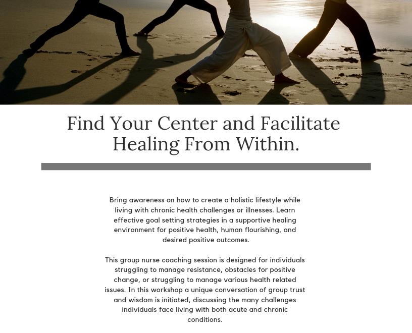 Integrative Health and Wellness Nurse Coach Group Coaching