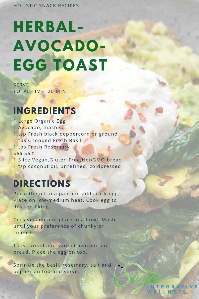 Herbal Avocado Egg Toast