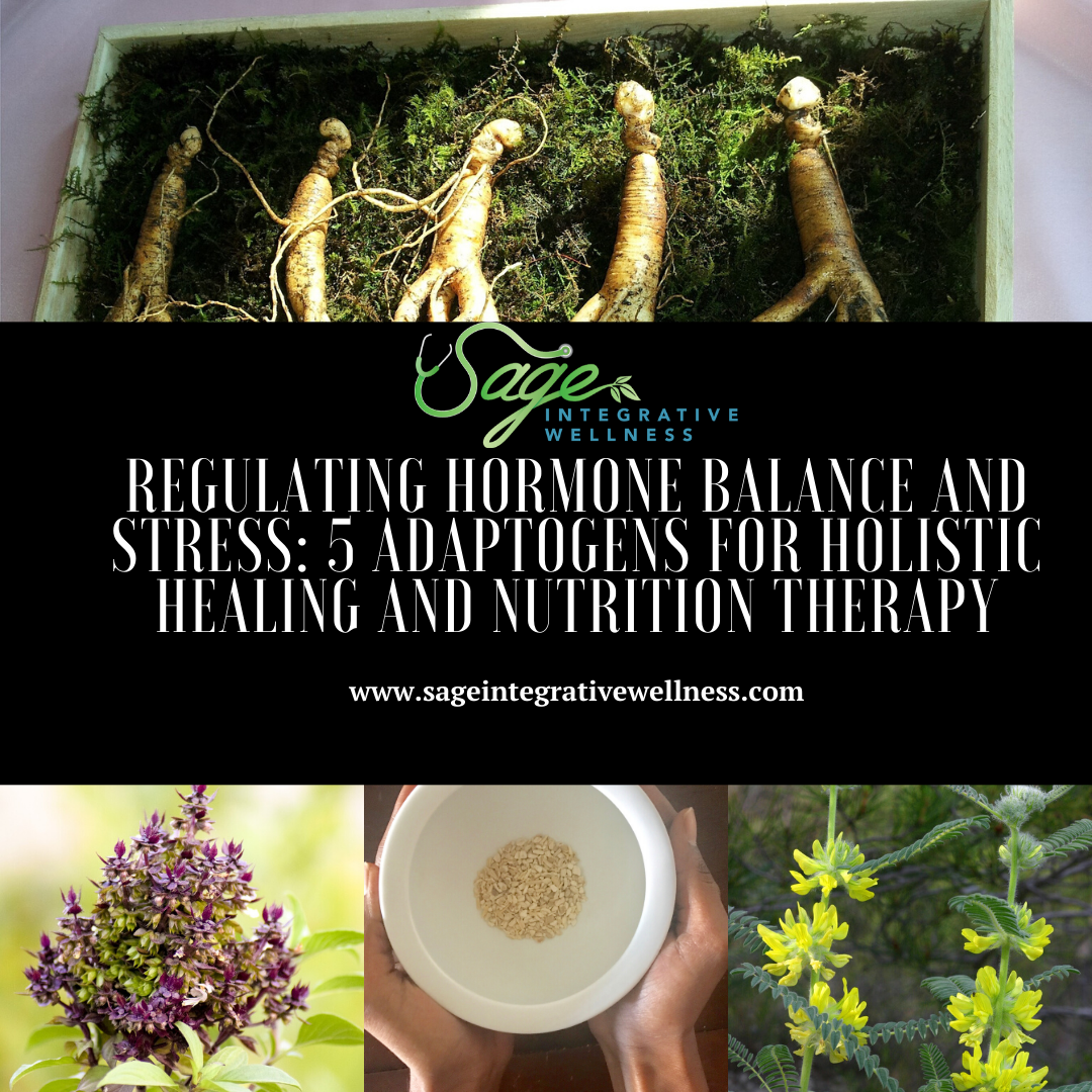 Regulating Hormone Balance and Stress: 5 Adaptogens For Holistic Healing and Nutrition Therapy